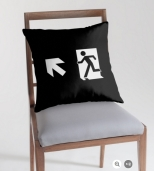 Running Man Fire Safety Exit Sign Emergency Evacuation Throw Pillow Cushion 145