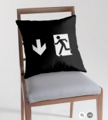 Running Man Fire Safety Exit Sign Emergency Evacuation Throw Pillow Cushion 147