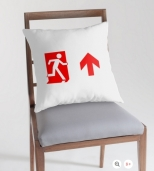 Running Man Fire Safety Exit Sign Emergency Evacuation Throw Pillow Cushion 149