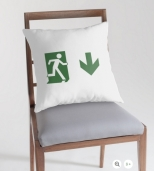 Running Man Fire Safety Exit Sign Emergency Evacuation Throw Pillow Cushion 15