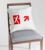 Running Man Fire Safety Exit Sign Emergency Evacuation Throw Pillow Cushion 151