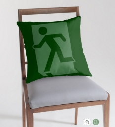 Running Man Fire Safety Exit Sign Emergency Evacuation Throw Pillow Cushion 155
