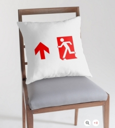 Running Man Fire Safety Exit Sign Emergency Evacuation Throw Pillow Cushion 156