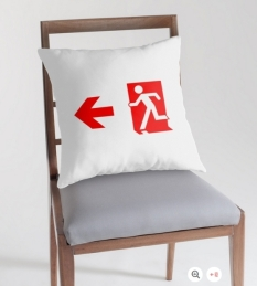 Running Man Fire Safety Exit Sign Emergency Evacuation Throw Pillow Cushion 157