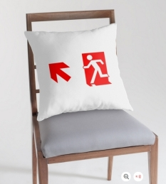 Running Man Fire Safety Exit Sign Emergency Evacuation Throw Pillow Cushion 158