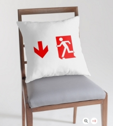 Running Man Fire Safety Exit Sign Emergency Evacuation Throw Pillow Cushion 160