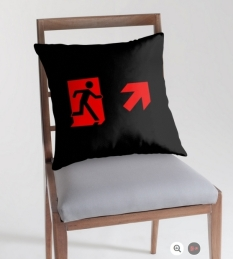 Running Man Fire Safety Exit Sign Emergency Evacuation Throw Pillow Cushion 165