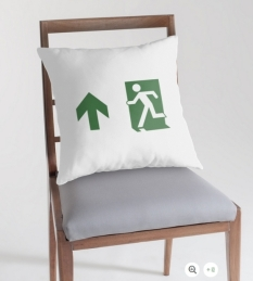 Running Man Fire Safety Exit Sign Emergency Evacuation Throw Pillow Cushion 17