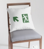Running Man Fire Safety Exit Sign Emergency Evacuation Throw Pillow Cushion 19