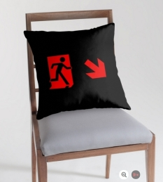 Running Man Fire Safety Exit Sign Emergency Evacuation Throw Pillow Cushion 2