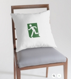 Running Man Fire Safety Exit Sign Emergency Evacuation Throw Pillow Cushion 22