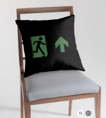 Running Man Fire Safety Exit Sign Emergency Evacuation Throw Pillow Cushion 24