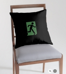 Running Man Fire Safety Exit Sign Emergency Evacuation Throw Pillow Cushion 29