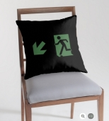 Running Man Fire Safety Exit Sign Emergency Evacuation Throw Pillow Cushion 33