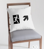 Running Man Fire Safety Exit Sign Emergency Evacuation Throw Pillow Cushion 39