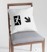 Running Man Fire Safety Exit Sign Emergency Evacuation Throw Pillow Cushion 40