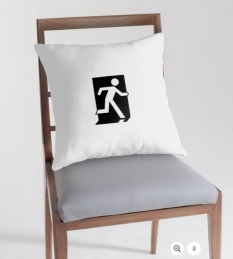 Running Man Fire Safety Exit Sign Emergency Evacuation Throw Pillow Cushion 42