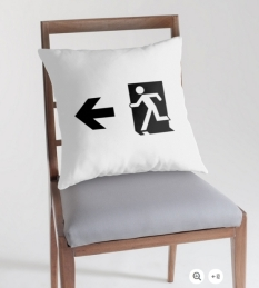 Running Man Fire Safety Exit Sign Emergency Evacuation Throw Pillow Cushion 44