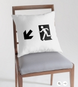 Running Man Fire Safety Exit Sign Emergency Evacuation Throw Pillow Cushion 47