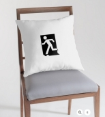 Running Man Fire Safety Exit Sign Emergency Evacuation Throw Pillow Cushion 49