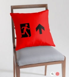 Running Man Fire Safety Exit Sign Emergency Evacuation Throw Pillow Cushion 50