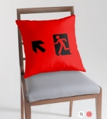 Running Man Fire Safety Exit Sign Emergency Evacuation Throw Pillow Cushion 59