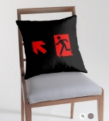 Running Man Fire Safety Exit Sign Emergency Evacuation Throw Pillow Cushion 6