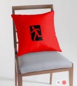 Running Man Fire Safety Exit Sign Emergency Evacuation Throw Pillow Cushion 62