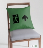 Running Man Fire Safety Exit Sign Emergency Evacuation Throw Pillow Cushion 63