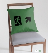 Running Man Fire Safety Exit Sign Emergency Evacuation Throw Pillow Cushion 65