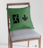Running Man Fire Safety Exit Sign Emergency Evacuation Throw Pillow Cushion 68