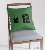 Running Man Fire Safety Exit Sign Emergency Evacuation Throw Pillow Cushion 71