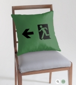 Running Man Fire Safety Exit Sign Emergency Evacuation Throw Pillow Cushion 72