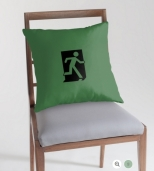 Running Man Fire Safety Exit Sign Emergency Evacuation Throw Pillow Cushion 73