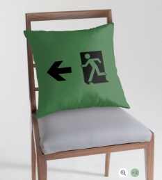 Running Man Fire Safety Exit Sign Emergency Evacuation Throw Pillow Cushion 75