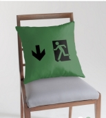 Running Man Fire Safety Exit Sign Emergency Evacuation Throw Pillow Cushion 76