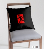 Running Man Fire Safety Exit Sign Emergency Evacuation Throw Pillow Cushion 9