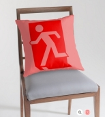 Running Man Fire Safety Exit Sign Emergency Evacuation Throw Pillow Cushion 90