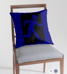 Running Man Fire Safety Exit Sign Emergency Evacuation Throw Pillow Cushion 99