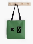Running Man Fire Safety Exit Sign Emergency Evacuation Tote Shoulder Carry Bag 1