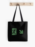 Running Man Fire Safety Exit Sign Emergency Evacuation Tote Shoulder Carry Bag 100
