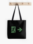 Running Man Fire Safety Exit Sign Emergency Evacuation Tote Shoulder Carry Bag 102