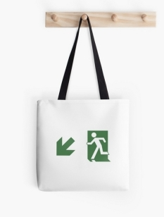 Running Man Fire Safety Exit Sign Emergency Evacuation Tote Shoulder Carry Bag 106