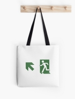 Running Man Fire Safety Exit Sign Emergency Evacuation Tote Shoulder Carry Bag 107
