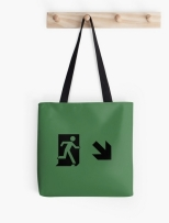 Running Man Fire Safety Exit Sign Emergency Evacuation Tote Shoulder Carry Bag 109
