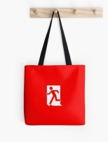 Running Man Fire Safety Exit Sign Emergency Evacuation Tote Shoulder Carry Bag 11
