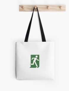 Running Man Fire Safety Exit Sign Emergency Evacuation Tote Shoulder Carry Bag 111
