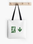 Running Man Fire Safety Exit Sign Emergency Evacuation Tote Shoulder Carry Bag 112