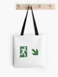 Running Man Fire Safety Exit Sign Emergency Evacuation Tote Shoulder Carry Bag 113