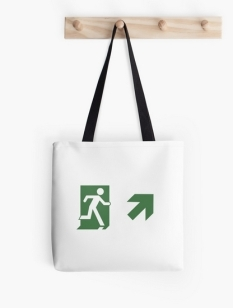 Running Man Fire Safety Exit Sign Emergency Evacuation Tote Shoulder Carry Bag 114